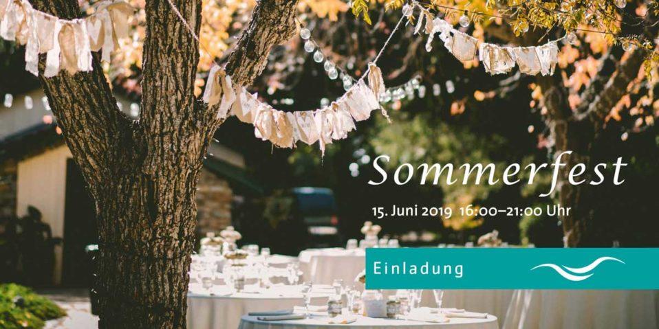 Einladung Sommerfest Ricam Hospiz am 15.Juni 2019 von 16-21 Uhr